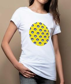 T-shirt à col rond Femme Bouches Ouvertes