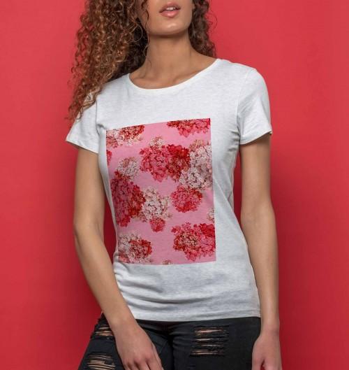 467717661c977 T-shirt Femme Fleurs Roses
