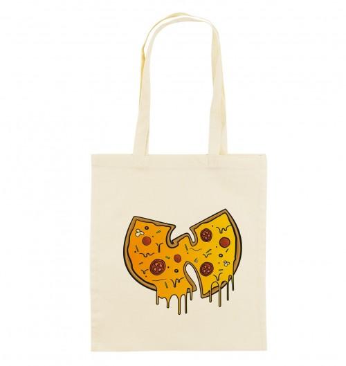 Tote Bag Wu-Tang Pizza de couleur Crème
