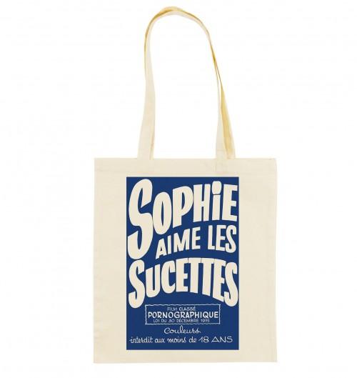 Tote Bag Sophie Aime Les Sucettes de couleur Crème