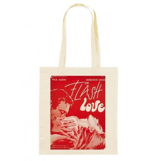 Tote Bag Flash Love de couleur Crème