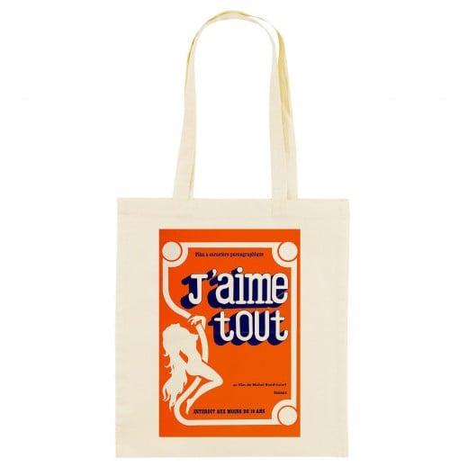 Tote Bag J'aime Tout de couleur Crème