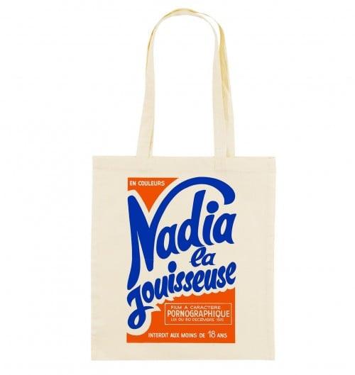Tote Bag Nadia La Jouisseuse de couleur Crème