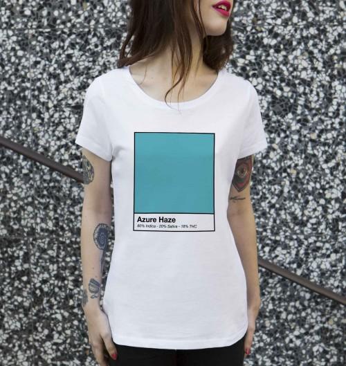 T-shirt pour Femme Femme Azure Haze de couleur Blanc