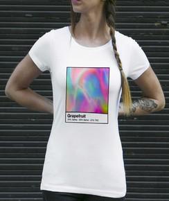 T-shirt à col rond Femme Grapefruit
