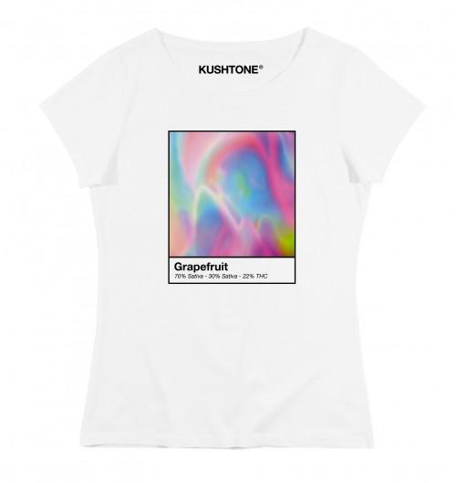 T-shirt pour Femme Femme Grapefruit de couleur Blanc