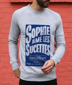 Sweat à col rond Sophie Aime Les Sucettes
