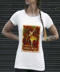T-shirt 100% coton bio Femme Liqueur Cordial Médoc