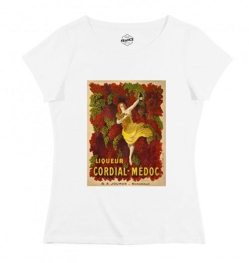 T-shirt pour Femme Femme Liqueur Cordial Médoc de couleur Blanc