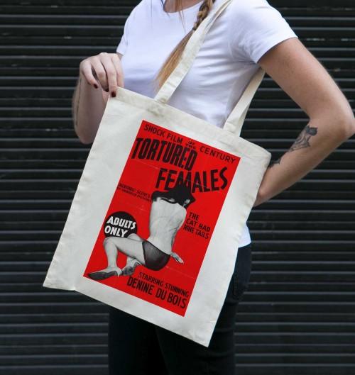 Tote Bag Tortured Females de couleur Crème