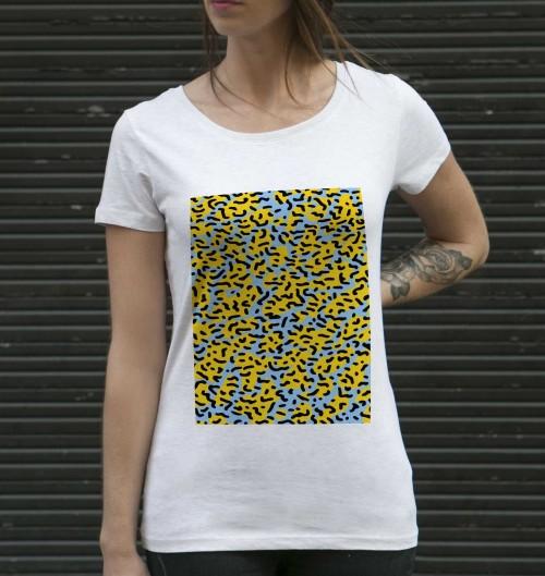 T-shirt pour Femme Femme Fiesta de couleur Beige chiné