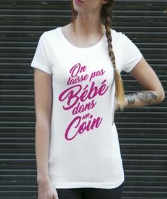 T-shirt On Laisse Pas Bébé 100% coton bio