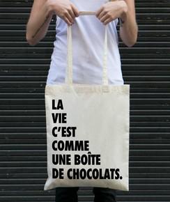 Tote Bag Forrest Gump Chocolat