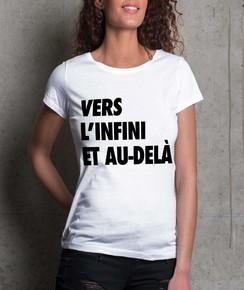 T-shirt à col rond Femme Vers L'infini et Au-Delà
