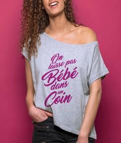 T-shirt 100% coton bio Loose On Laisse Pas Bébé