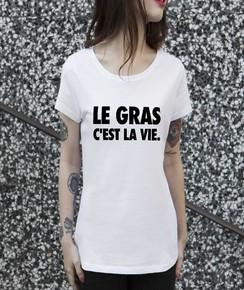 Tee-shirt 100% coton bio Femme Le Gras