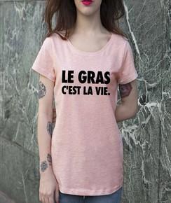 T-shirt à col rond Femme Le Gras