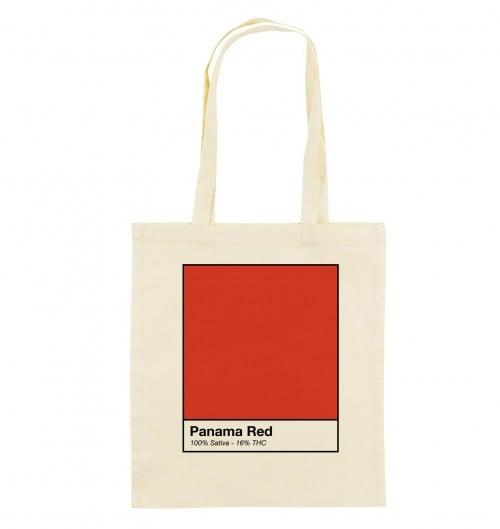 Tote Bag Panama Red de couleur Crème