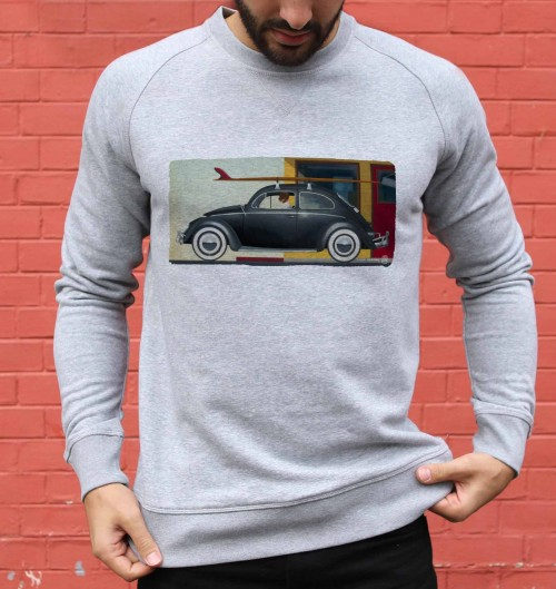 Sweat pour Homme Nine AM de couleur Gris chiné