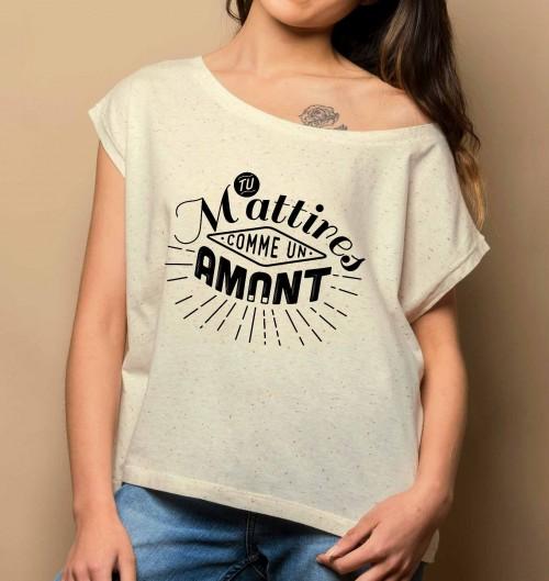 T-shirt Loose Comme Un Amant 100% coton bio