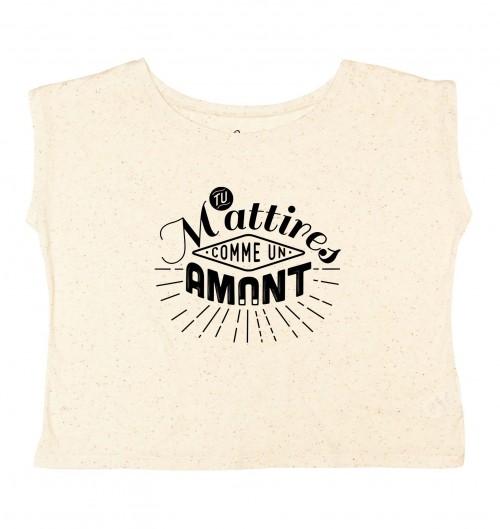 T-shirt pour Femme Loose Comme Un Amant de couleur Pêche moucheté