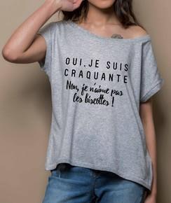T-shirt 100% coton bio Loose Je Suis Craquante