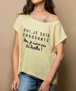 Détail T-shirt Loose Je Suis Craquante Numérique