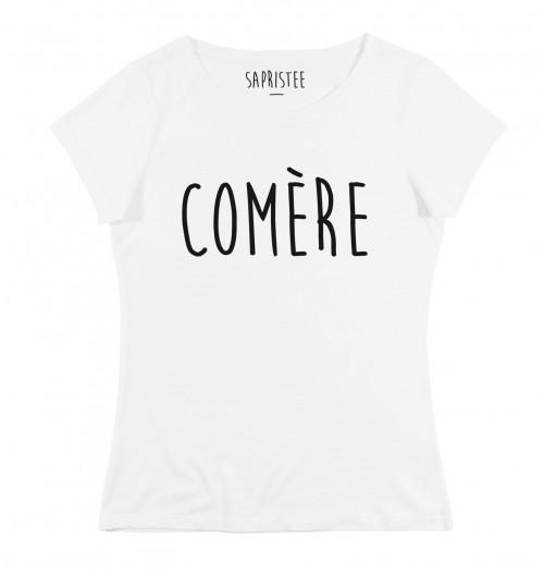 T-shirt pour Femme Femme Comère de couleur Blanc