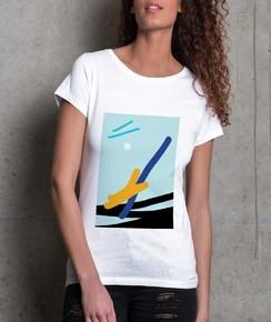 T-shirt à col rond Femme Wrong par Aecho