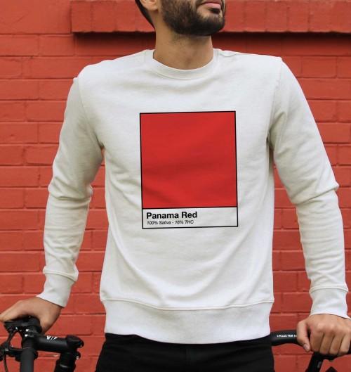 Sweat pour Homme Panama Red de couleur Beige chiné