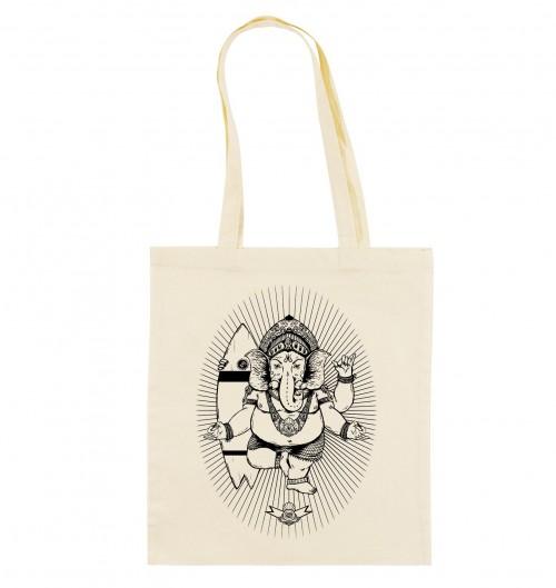 Tote Bag Ganesh de couleur Crème