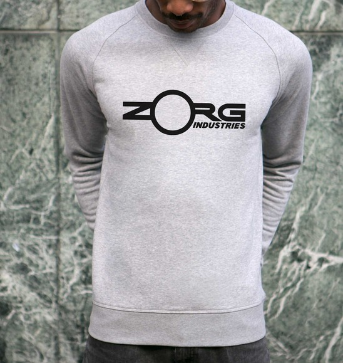 Sweat pour Homme Zorg Industries de couleur Gris chiné