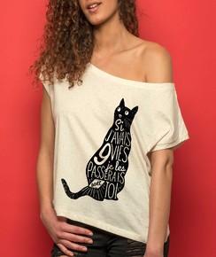 T-shirt 100% coton bio Loose 9 Vies
