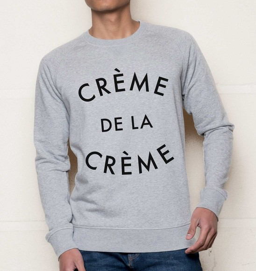 Sweat pour Homme Crème De La Crème de couleur Gris chiné