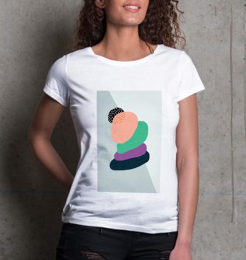 T-shirt pour Femme Femme Zen de couleur Blanc