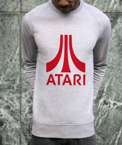 Sweat à col rond Atari Logo Rouge
