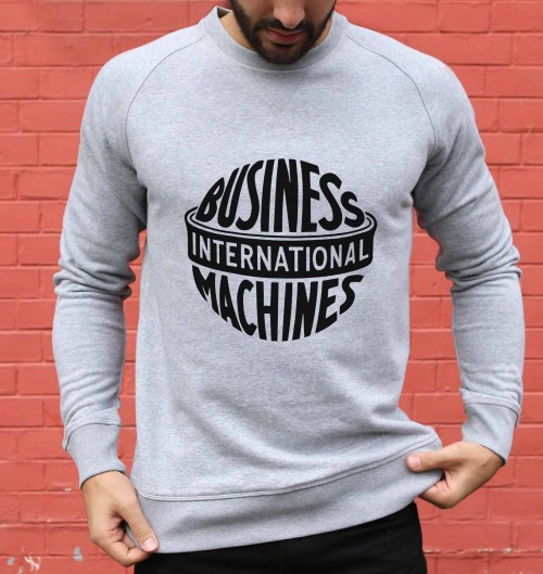 Sweat pour Homme International Business Machines de couleur Gris chiné