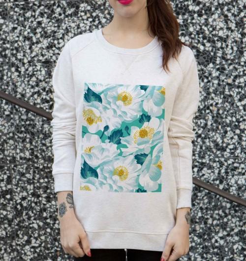 Sweat pour Femme Femme Lys Blanc de couleur Beige chiné