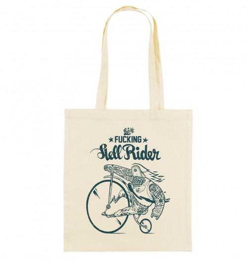 Tote Bag Hell Rider de couleur Crème