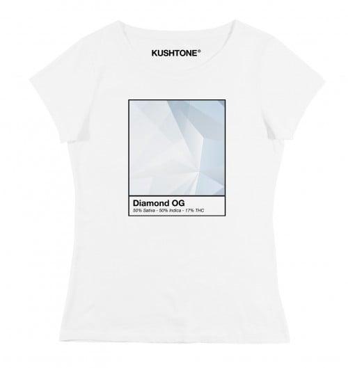 T-shirt pour Femme Femme Diamond OG de couleur Blanc
