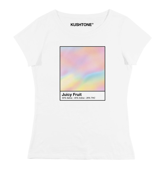 T-shirt pour Femme Femme Juicy Fruit de couleur Blanc