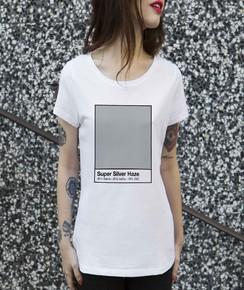 T-shirt à col rond Femme Super Silver Haze