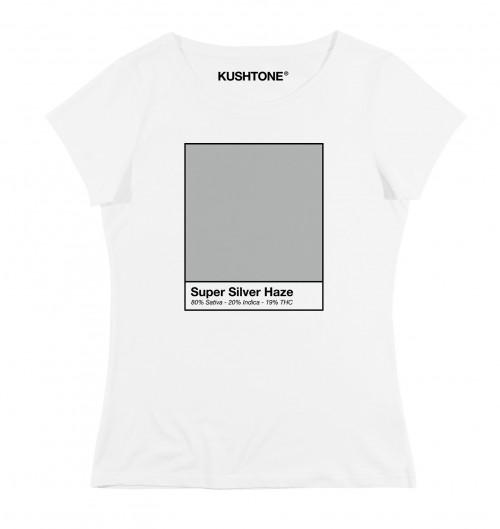 T-shirt pour Femme Femme Super Silver Haze de couleur Blanc