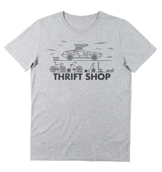 T-shirt pour Homme Thrift Shop de couleur Gris chiné
