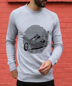 Sweat 85% coton bio / 15% polyester Dragster