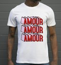 T-shirt à col rond Amour Amour Amour