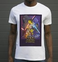 T-shirt à col rond Star Wars Simpsonized