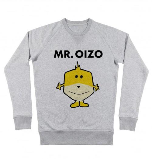 Sweat pour Homme Mr. Oizo de couleur Gris chiné