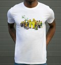 T-shirt à col rond Breaking Bad Acteurs par ADN