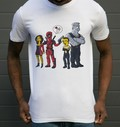T-shirt à col rond Deadpool Simpsonized par ADN